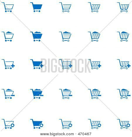 Icono de carrito de compras Set 1