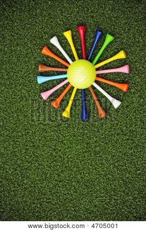 Golf Tee Daisy