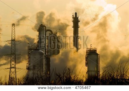 Industry with smoke