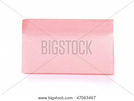 Pink Paper Sticky Stickers