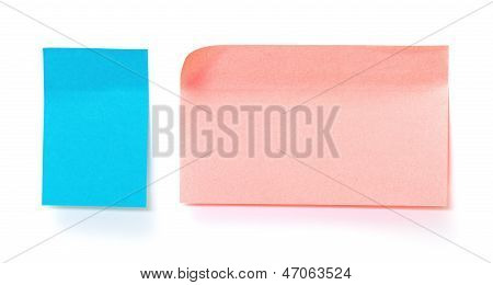 Blue And Pink Paper Sticky Stickers