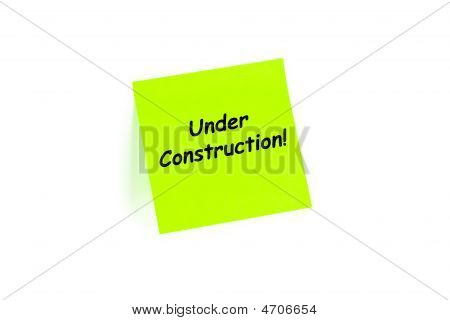 Under Construction! On A Note