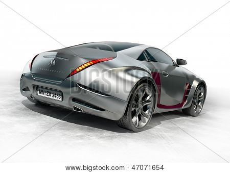 Sports car. Non-branded car design.