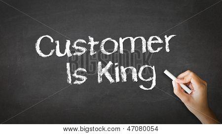 Cliente é rei giz ilustração