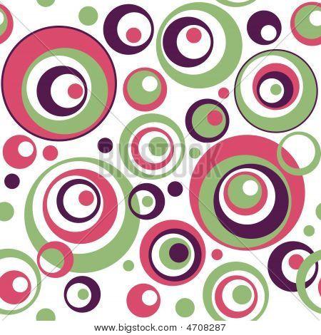Retro Circles Seamless Wallpaper Pattern