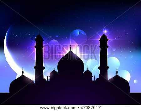beautiful vector background of ramadan festival poster