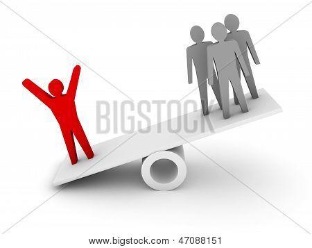 Professionalism competence metaphor. Concept 3D illustration.