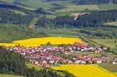 Slovakia countryside - Summer mountain panorama Stara Lubovna poster