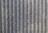 Close up ancient galvanized iron sheet texture poster