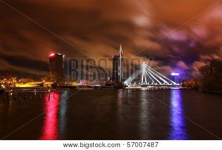 Night View At Riga, Latvia
