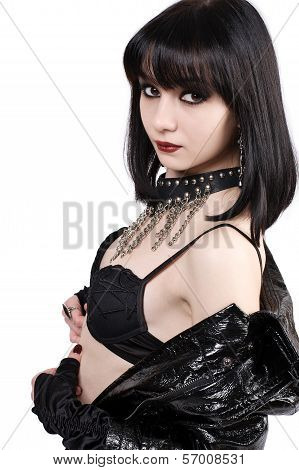 Portrait Of Young Goth Woman