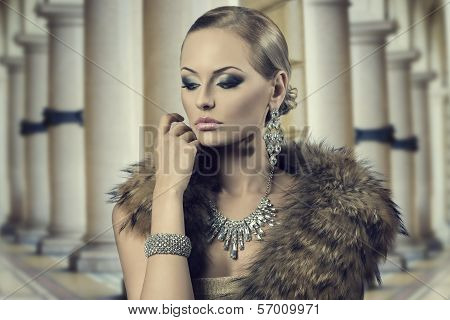 Aristocratic Sensual Fashion Woman