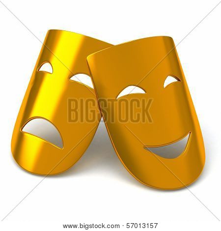 Gold theatre masks