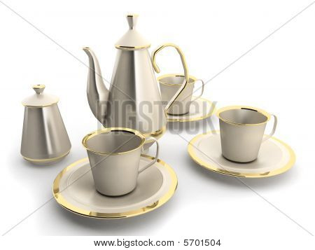 Cups And Teapot