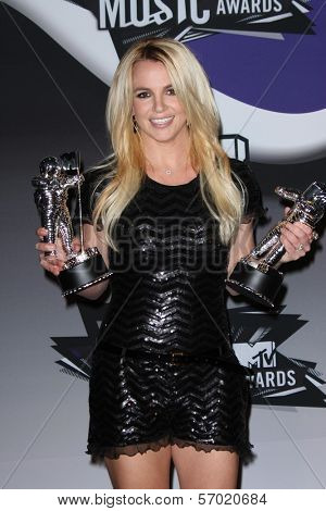 Britney Spears in the 2011 MTV Video Music Awards Press Room, Nokia Theatre LA Live, Los Angeles, CA. 08-28-11