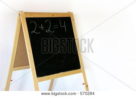 blackboard 2+2=4