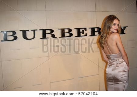Rosie Huntington-Whiteley at the Burberry Body Launch, Burberry, Beverly Hills, CA 10-26-11