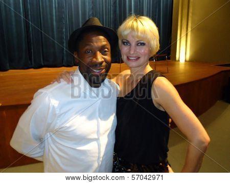 Glenn Plummer, Rena Riffel at a Special Screening of