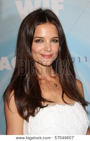 Katie Holmes at the Women In Film's 2011 Crystal + Lucy Awards, Beverly Hilton hotel, Beverly Hills, CA. 06-16-11