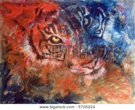 Tiger Blue and Red