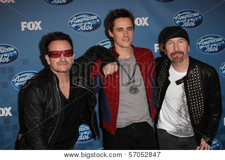 Bono, Reeve Carney and The Edge at the