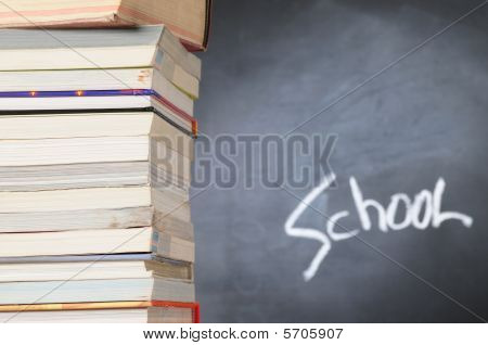 Stack of books. Educational concept
