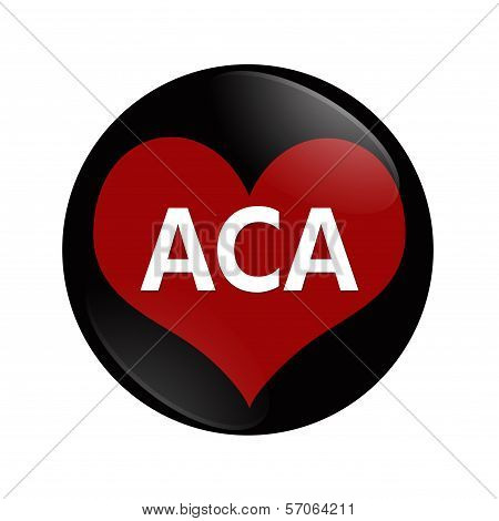 I Love Aca Button