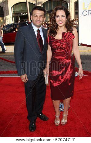 Maria Canals-Barrera with husband David at the
