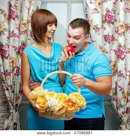 Girl Feeding Her Boyfriend