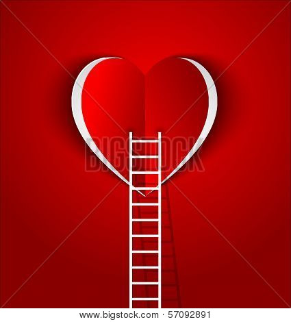 Ladder To Your Heart-concept  Symbol Love And Relationship