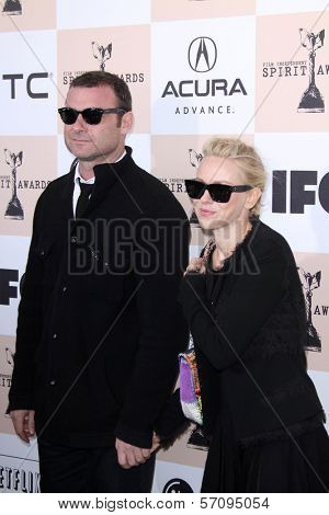 Liev Schreiber and Naomi Watts at the 2011 Film Independent Spirit Awards, Santa Monica Beach, Santa Monica, CA 02-26-11