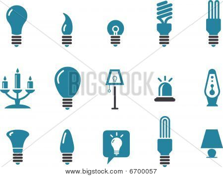 Lamps Icon Set