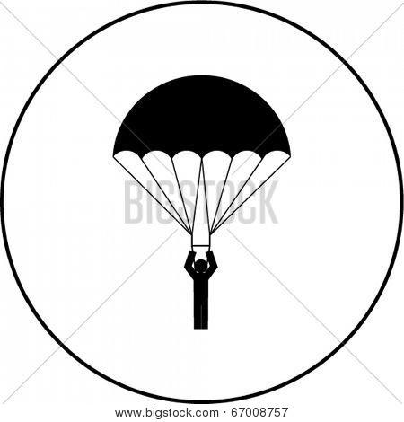 parachutist symbol
