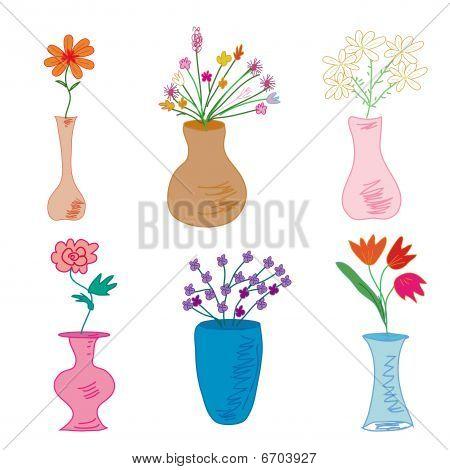 Satz von Vasen