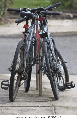 Pair Of Secured Bicycles