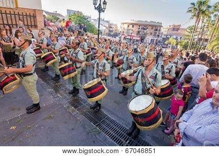 Spanish Legionnaires With Drums