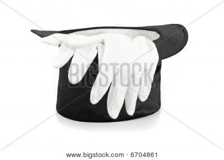 Black Magic Hat And Gloves
