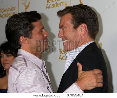 LOS ANGELES - JUN 19:  Greg Vaughn, Peter Bergman at the ATAS Daytime Emmy Nominees Reception at the London Hotel on June 19, 2014 in West Hollywood, CA