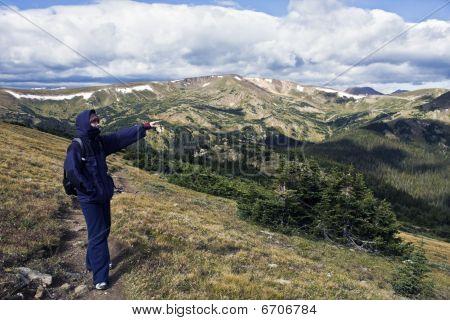 Toursit In Rockies
