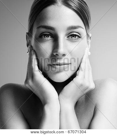 Bw Portrait Of A Gorgeous Woman