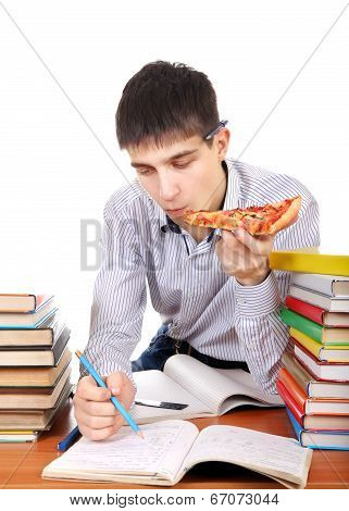 Student With A Pizza