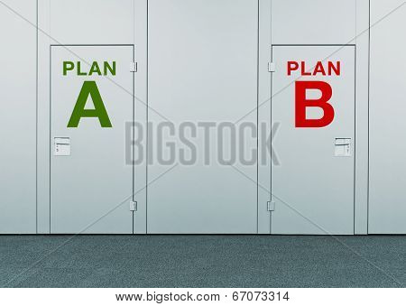 Plan A Or Plan B, Concept Of Choice