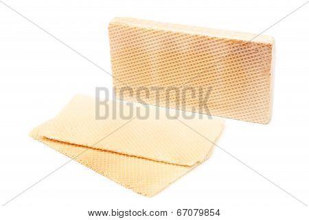 Close up of waffer brick