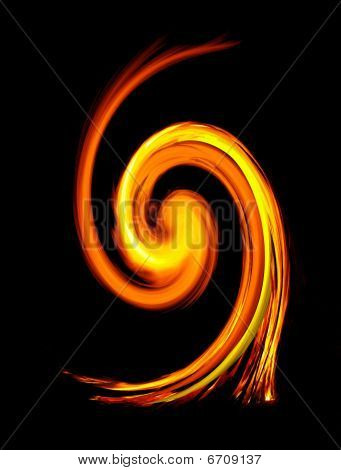 Fire spiral abstract effect experimental light night poster