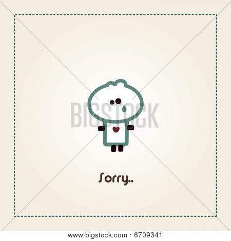 Illustrated sorry card with