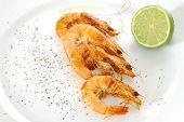 Fried shrimps poster