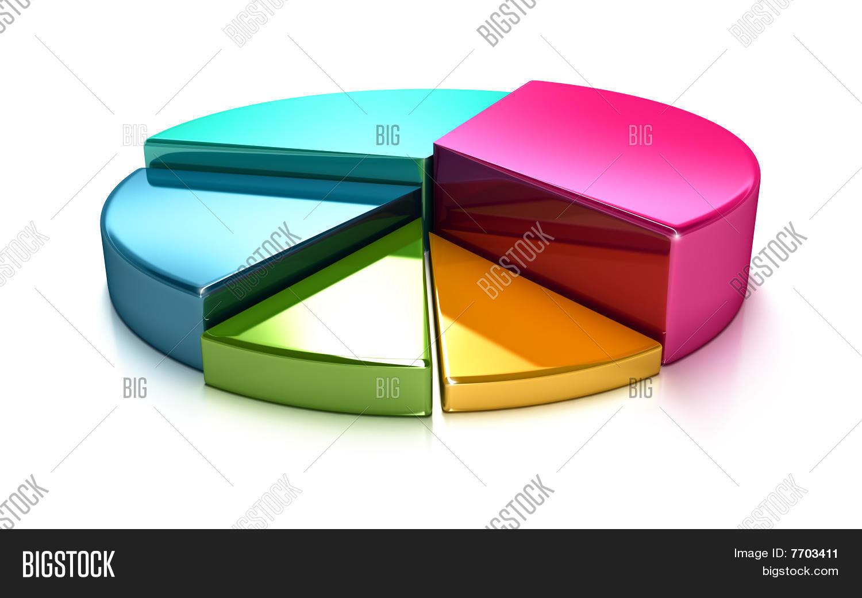 3d Pie Chart Image Photo Free Trial Bigstock