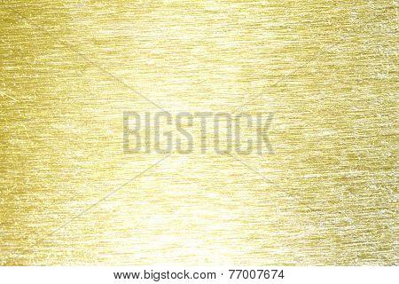 Golden metal brass scratched background texture