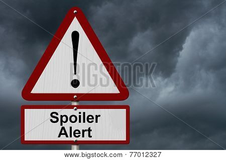 Spoiler Alert Caution Sign