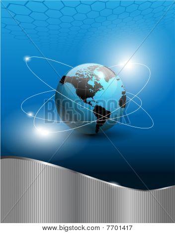 Dünya küre ile arka plan